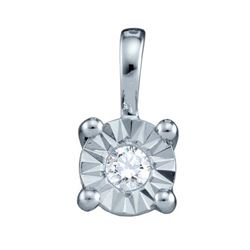 10KT White Gold 0.10CT DIAMOND LADIES CIRCLE PENDANT