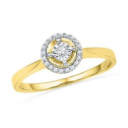 10K Yellow-gold 0.08CTW DIAMOND FASHION RING