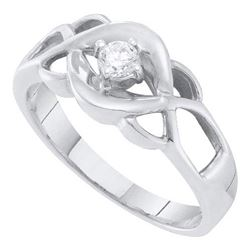 10KT White Gold 0.15CTW DIAMOND ROUND CENTER BRIDAL RIN