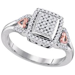 10KT White Gold Two Tone 0.33CTW DIAMOND FASHION RING