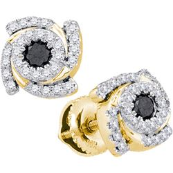 10K Yellow-gold 0.48CTW DIAMOND FASHION EARRING