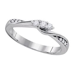 10KT White Gold 0.17CTW DIAMOND BRIDAL RING