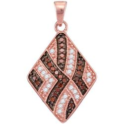 10KT Rose Gold 0.33CTW DIAMOND FASHION PEDANT
