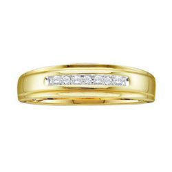 14KT Yellow Gold 0.08CTW ROUND DIAMOND MENS FASHION BA