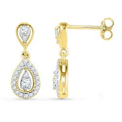10K Yellow-gold 0.36CTW DIAMOND FASHION EARRING