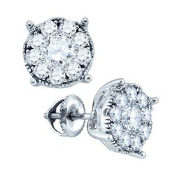 14KT White Gold 0.35CTW DIAMOND SEVILLE EARRINGS