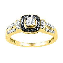 10K Yellow-gold 0.20CTW-Diamond FASHION RING