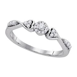 10KT White Gold 0.20CTW DIAMOND FASHION RING