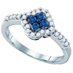 10KT White Gold 0.40CT BLUE DIAMOND FASHION RING