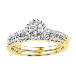 10K Yellow-gold 0.33CTW DIAMOND BRIDAL SET