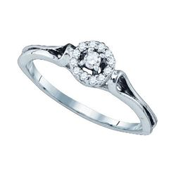 10KT White Gold 0.10CT DIAMOND FASHION RING