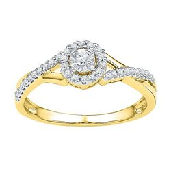 10K Yellow-gold 0.25CTW DIAMOND FASHION RING