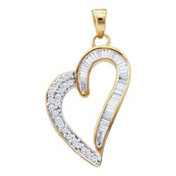 10KT Yellow Gold 0.25CTW DIAMOND FASHION PENDANT