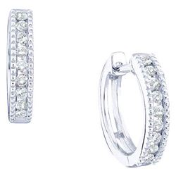 14KT White Gold 0.26CTW DIAMOND LADIES MICRO-PAVE EARRI