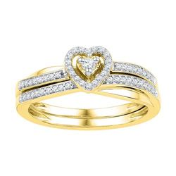 10K Yellow-gold 0.25CTW-Diamond BRIDAL SET