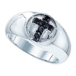 925 Sterling Silver White 0.23CTW DIAMOND FASHION RING