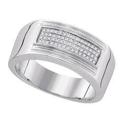 925 Sterling Silver White 0.15CTW DIAMOND FASHION MENS