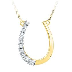 10K Yellow-gold 0.20CTW DIAMOND FASHION NECKLACE