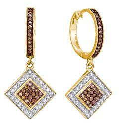 10K Yellow-gold 0.50CTW DIAMOND MICRO-PAVE EARRING