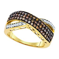 10K Yellow-gold 0.70CTW DIAMOND FASHION RING