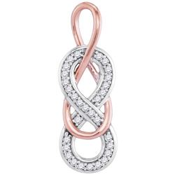 10KT White Gold Two Tone 0.10CTW DIAMOND FASHION PENDAN