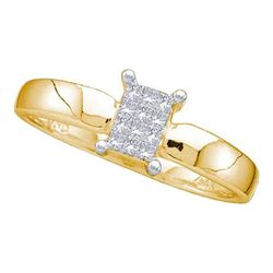 14KT Yellow Gold 0.12CTW DIAMOND INVISIBLE RING