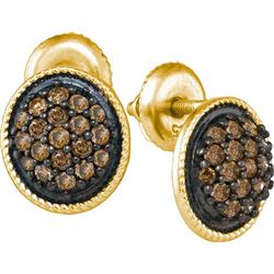 10K Yellow-gold 0.50CTW DIAMOND FASHION EARRING