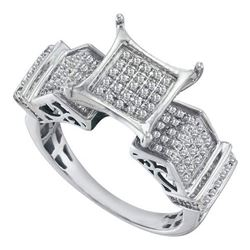 10K White-gold 0.38CTW DIAMOND MICRO PAVE RING