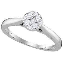 14KT White Gold 0.25CTW-Diamond LARISSA RING