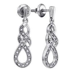 925 Sterling Silver White 0.12CT DIAMOND FASHION EARRIN