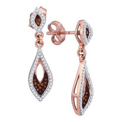 10K Yellow-Gold 0.30CTW DIAMOND MICRO-PAVE EARRINGS