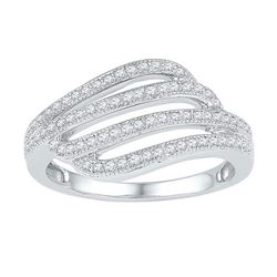 10KT White Gold 0.30CTW DIAMOND FASHION RING