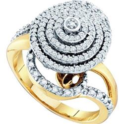 10K Yellow-gold 0.50CTW DIAMOND FASHION RING