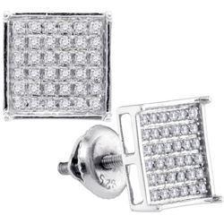 925 Sterling Silver White 0.25CTW DIAMOND MICRO-PAVE EA