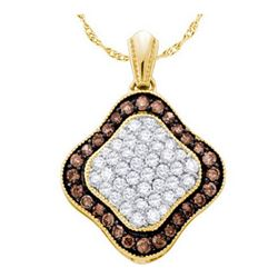 10KT Yellow Gold 1.00CTW COGNAC DIAMOND LADIES FASHION