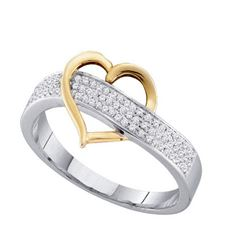 925 Sterling Silver White 0.15CT DIAMOND MICRO PAVE RIN