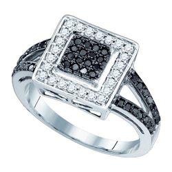 10KT White Gold 0.50CT BLACK DIAMOND FASHION RING