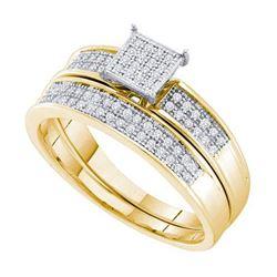 10KT Yellow Gold 0.20CTW DIAMOND FASHION BRIDAL SET