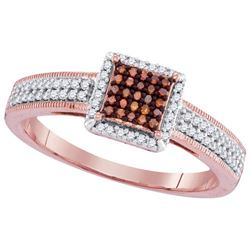 10KT Rose Gold 0.25CTW DIAMOND MICRO-PAVE BRIDAL RING