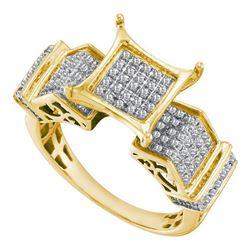 10K Yellow-gold 0.38CTW DIAMOND MICRO PAVE RING