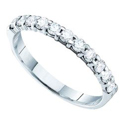 14KT White Gold 0.51CT-DIAMOND MACHINE-SET BAND