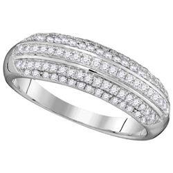 10KT White Gold 0.50CTW DIAMOND FASHION RING