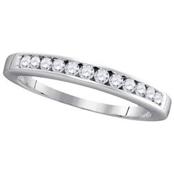 14KT White Gold 0.25CT DIAMOND LADIES FASHION BAND