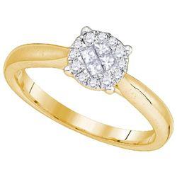 14KT Yellow Gold 0.25CTW DIAMOND SOLIEL RING