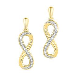 10K Yellow-gold 0.10CTW DIAMOND FASHION EARRINGS