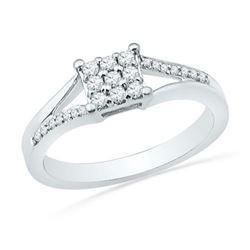 10KT White Gold 0.25CTW DIAMOND FASHION RING