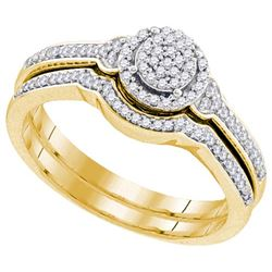10K Yellow-gold 0.25CTW DIAMOND MIRO-PAVE BRIDAL SET