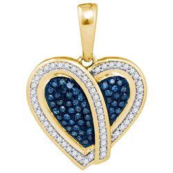 10K Yellow-gold 0.25CTW DIAMOND HEART PENDANT