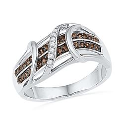 10KT White Gold 0.25CTW-DIA FASHION BAND