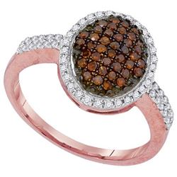10KT Rose Gold 0.45CTW DIAMOND FASHION RING